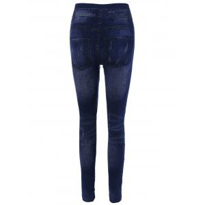 Lace Insert Skinny Ripped Jeggings -