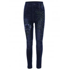 Print High Waisted Skinny Jeggings