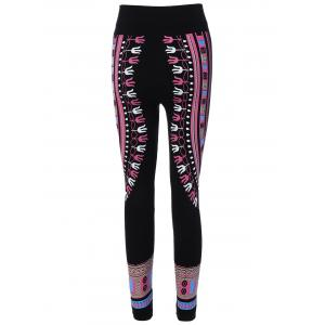 Tribal Print Skinny Yoga Leggings -