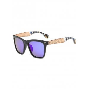 Cool Crack and Camouflage Panel Square Mirrored Sunglasses - Blue