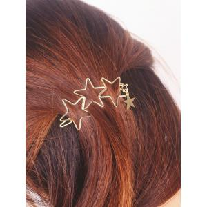 Star Hollowed Hairpin - Golden - S