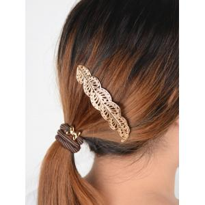 Hollow Out Leaf  Hairpin - GOLDEN