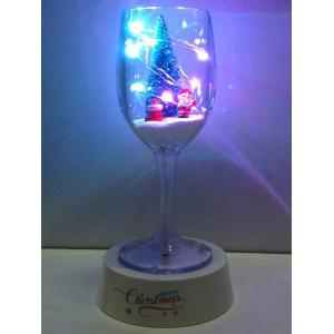 Colorful USB Merry Christmas Goblet Cup LED Night Light - Colorful - S