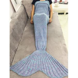 Warmth Yarn Knitted Throw Bed Mermaid Blanket - Purple - One Size(fit Size Xs To M)