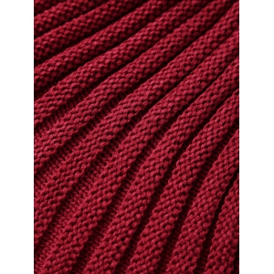 Thicken American Flag Design Knitted Mermaid Tail Blanket - RED WITH WHITE