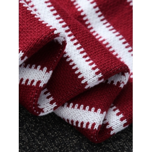 Thicken American Flag Design Knitted Mermaid Tail Blanket - RED/WHITE