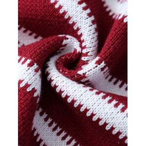 Thicken American Flag Design Knitted Mermaid Tail Blanket -