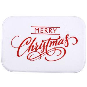 Coral Fleece Antiskid Soft Absorbent Christmas Doormat Carpet - White - W24 Inch * L71 Inch