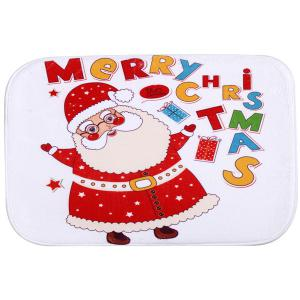 Antiskid Santa Claus Water Absorb Christmas Doormat Carpet