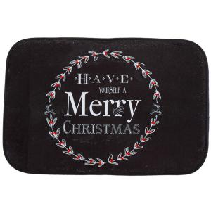 Bathroom Antiskid Water Absorb Christmas Doormat Carpeting