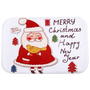 Cute Christmas Santa Antislip Water Absorb Doormat Bath Mat