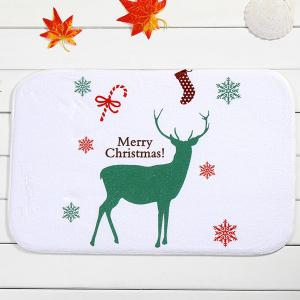 Merry Christmas Deer Antiskid Soft Absorbent Doormat Carpet