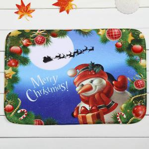 Merry Christmas Snowman Antiskid Soft Absorbent Doormat Carpet