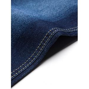 Button Embellished Zip Fly Jeans in Taper Fit -