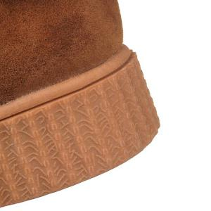 Faux Fur Bow Stitching Snow Boots - BROWN 39