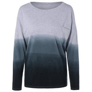 Plus Size Ombre T-Shirt with Pocket