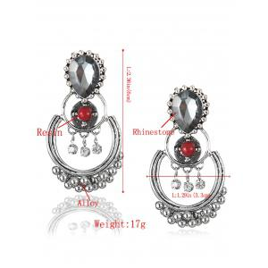 Bohemian Artificial Gem Beads Drop Earrings -