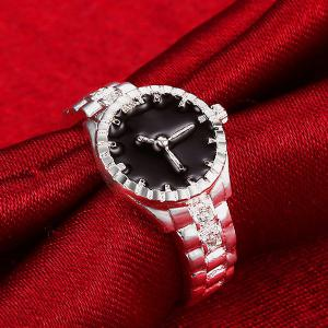 Rhinestone Watch Ring -