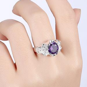 Artificial Amethyst Ring - PURPLE 8