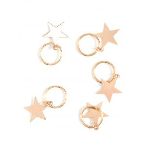 5 PCS Star Hair Accessories - Golden