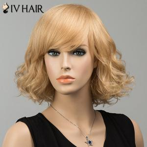 Gorgeous Short Shaggy Side Bang Curly Siv Human Hair Wig -