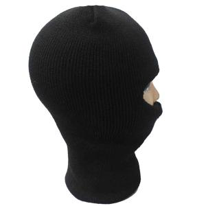 Outdoor Knit Face Mask Neck Warmer Ski Cap - BLACK