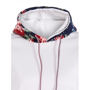 Stylish Long Sleeve Floral Spliced Women's Pullover Hoodie -