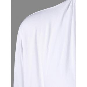 Wrap V Neck Tee - WHITE XL