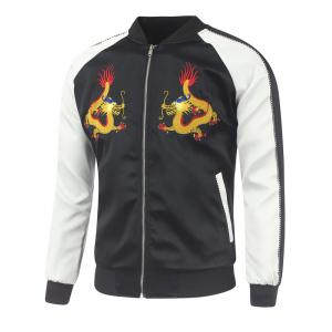 Raglan Sleeve Dragon Embroidery Sukajan Jacket