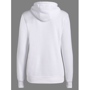 Letters Pattern Sporty Drawstring Hoodie -