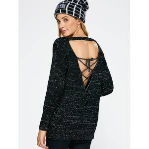 Lace Up Backless Sweater -