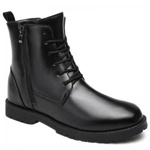 PU Leather Lace Up Combat Boots
