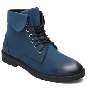 Lace Up Eyelet Fold Down Combat Boots