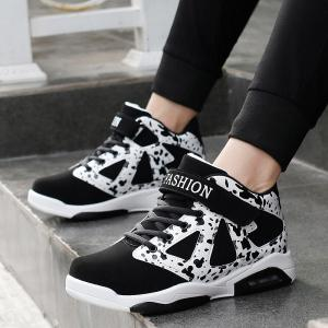 Colour Block High Top Athletic Shoes -