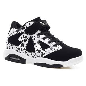 Colour Block High Top Athletic Shoes - White And Black - 40
