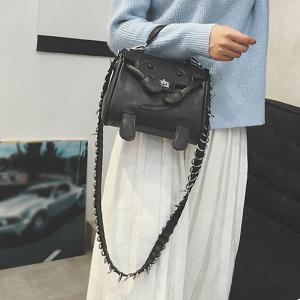 Bead Twist-Lock Closure Metal Crossbody Bag