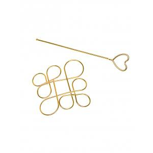 Hollow Out Chinese Knot Hairpin - GOLDEN