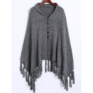 Asymmetrical Fringed Cardigan -
