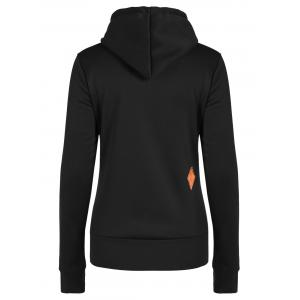 Patched Casual Hoodie - BLACK XL