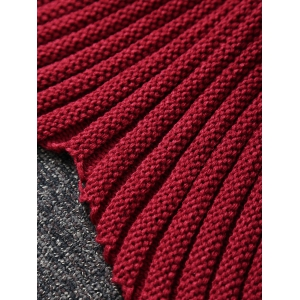 American Flag Design Knitted Wrap Mermaid Blanket - RED
