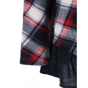 Plus Size Flounced Plaid T-Shirt - CHECKED XL