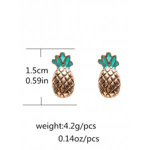 Pineapple Enamel Stud Earrings -