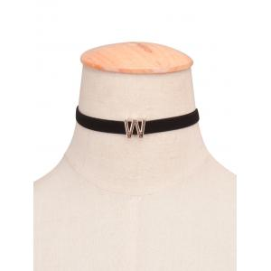 Letter Velvet Choker Necklace -
