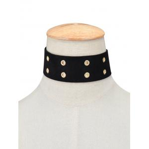 Velvet Bowknot Faux Leather Choker -