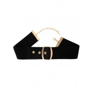 Faux Leather Velvet Choker Necklace -