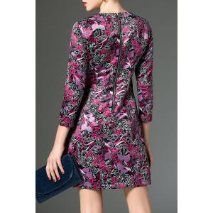 A Line Dress With Floral Print -