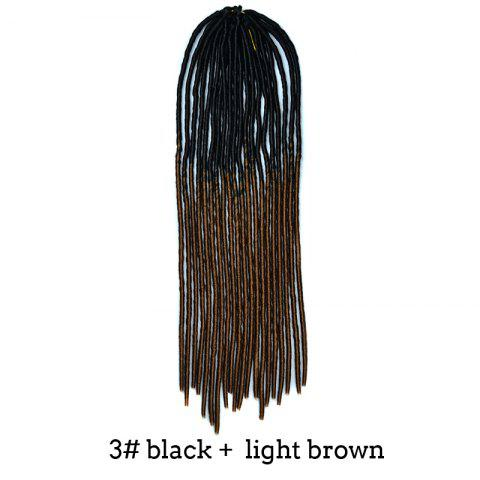 Shops Two-Tone Ombre Stylish Long Heat Resistant Synthetic Dreadlock Hair Extension For Women