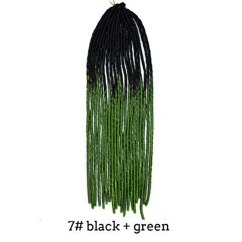 Two-Tone Ombre Stylish Long Heat Resistant Synthetic Dreadlock Hair Extension For Women