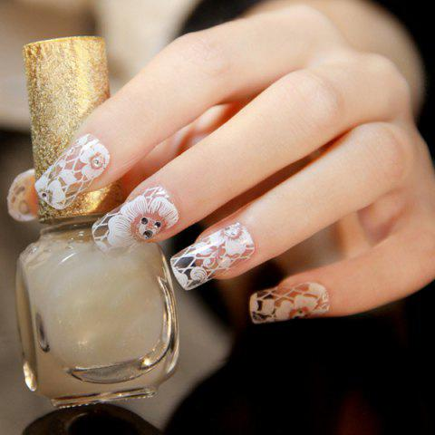 Outfits One Sheet Flower Nail Art Stickers - WHITE  Mobile