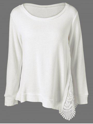 Buy Lace Patchwork Asymmetrical Sweater